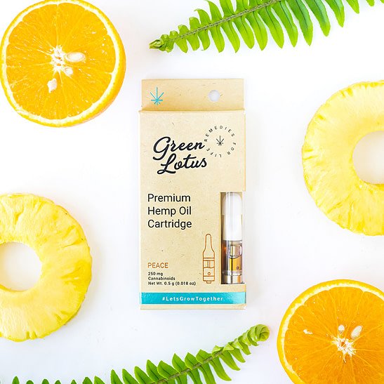 cbd oil vape cartridge - green lotus peace