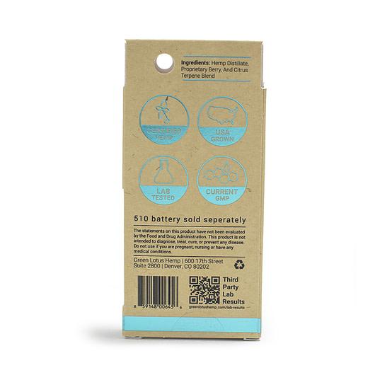 cbd oil vape cartridge - green lotus serene