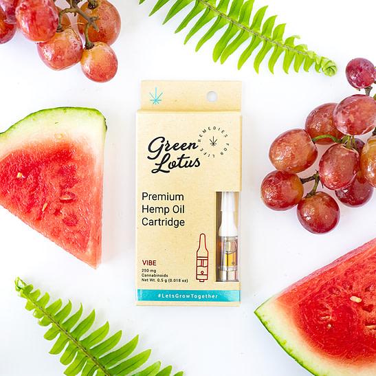 cbd vape oil cartridge - green lotus vibe