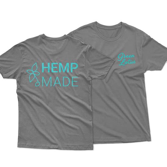 Green Lotus Hemp Made T-Shirt