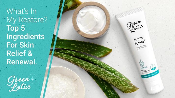 Green Lotus Hemp Blog Topical Restore CBD Ingredients