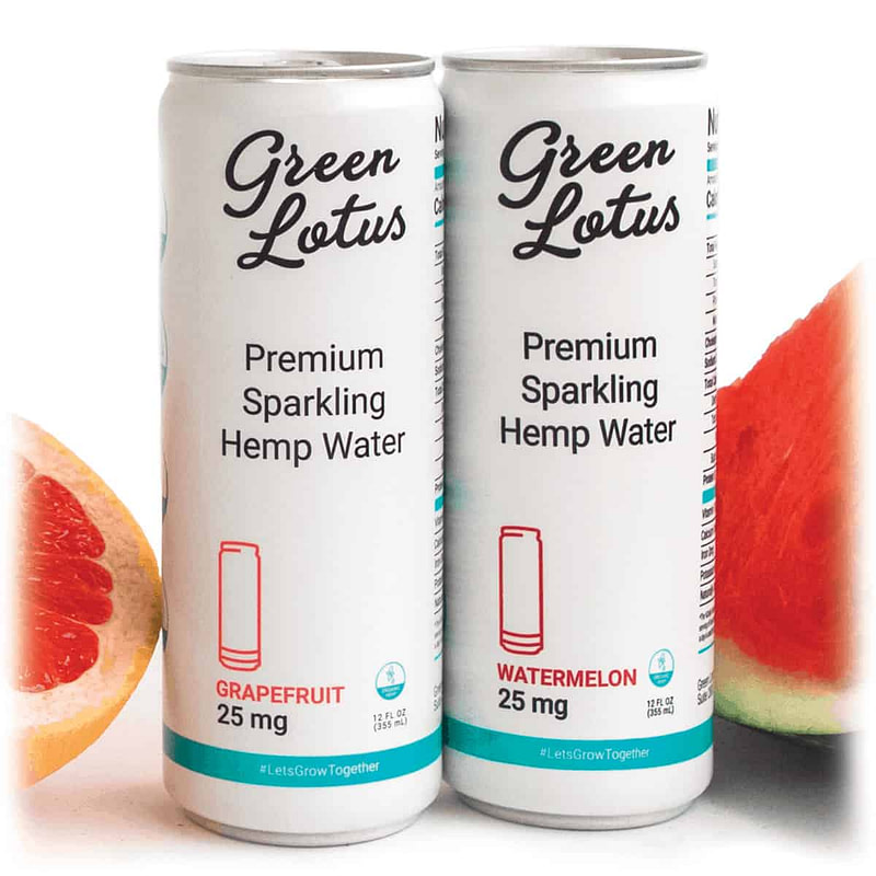 Green Lotus Hemp Beverage Watermelon Grapefruit CBD Drink