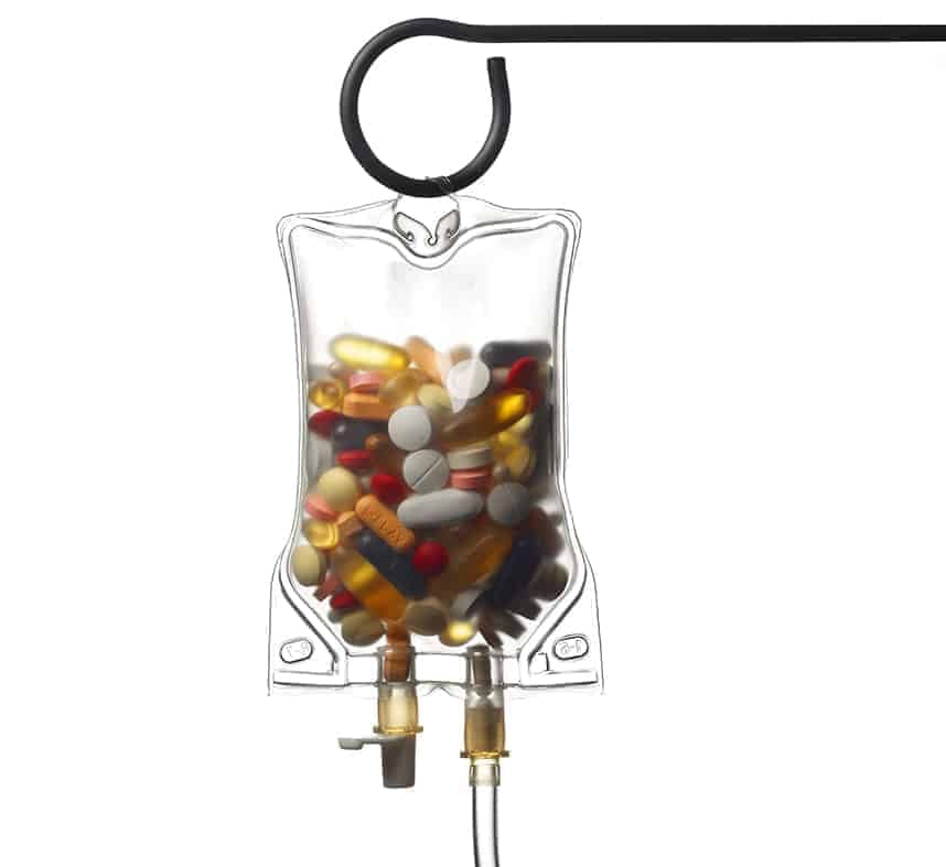 IV Bag with supplements
